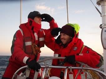 Tom and Stu on Iceberg watch