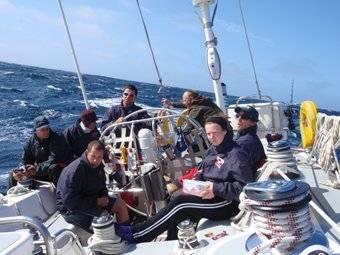 A little of each watch plus a mate & the skipper