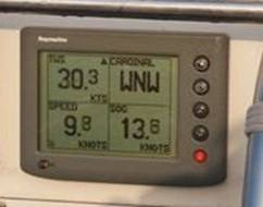 Andy clocking 13.8 knots / hour