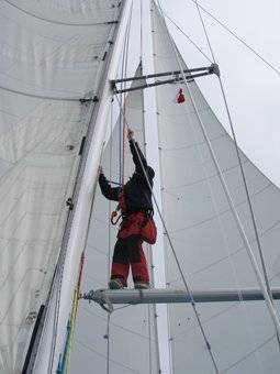 Windy up the mast