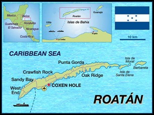 map of roatan
