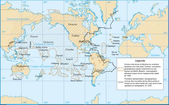 Christopher columbus world map