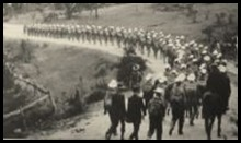 Marching towards Hassan's Walls outside Lithgow