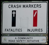 crash markers