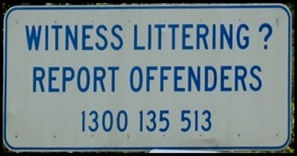 Witness Littering