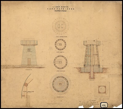 800px-Cape_Capricorn_Tower_-_Structure,_1874 1st lighthouse