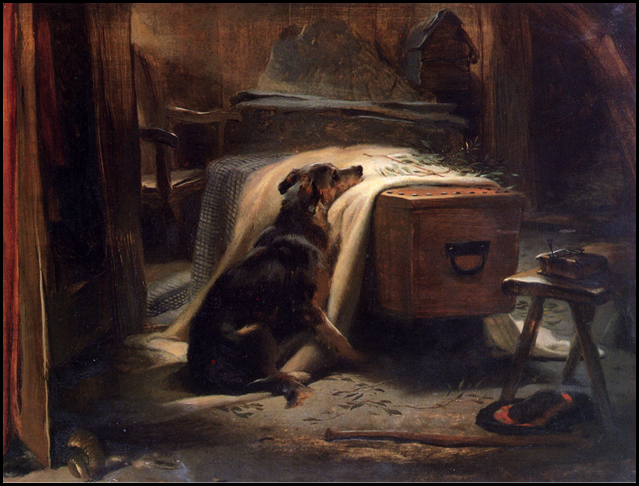 The Old Shepherd's Chief Mourner by Sir Edwin Landseer