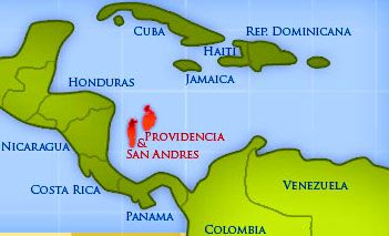 Image result for san andres and providencia map