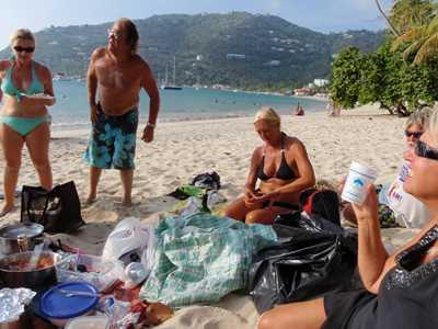 Scott-frees Web Diary - Beach picnic party,Cane Garden